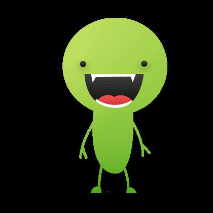 Ein Scherz-Monster lacht über unsere Witzsammlung!